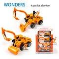 Juguetes educativos 1 : 64 aleación Tractor de juguete Rural de ingeniería van excavadora roller calle modelo niños de juguete modelo del Metal vehículos