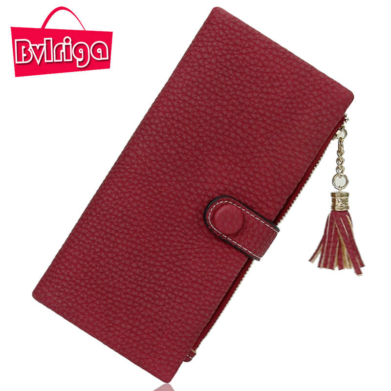 BVLRIGA Long Lady Leather Wallet Women Wallet For Credit Card Holder Female Purse Women Clutch Coin Purse Phone walet Money Bag hantek pc usb oscilloscope 6022bl 2 digital channels 20mhz bandwidth 48msa s sample rate 16 channels logic analyzer