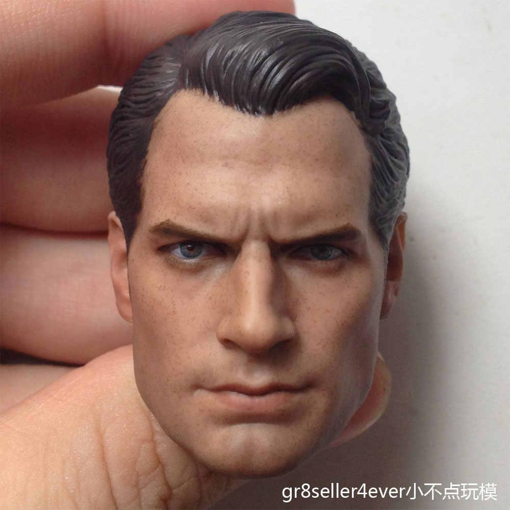 Custom 1//6 SCALA Henry Cavill BATMAN SUPERMAN V 2 TESTA SCOLPIRE per corpo Hot Toys