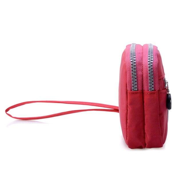 Small Fashion Women Clutch Bag Nylon Waterproof Nylon Multiple Wristlets Soft Zipper Pockets Style Shoulder Bag Purse 1