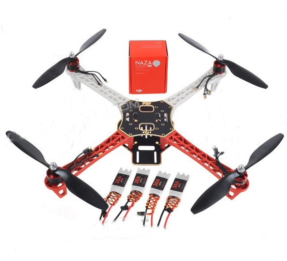 All Original F450 Quadcopter Frame with ESC Motor Propeller & NAZA M Lite with GPS with Landing Gear Combo Kit f450 450mm pcb version quadcopter rack frame kit naza m lite flight controller board