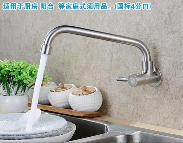Masukkan Jenis Dinding 304 Stainless Steel Kran Dapur Xiancai Cekungan Mangkuk Mencuci Sink Wiredrawing Tunggal