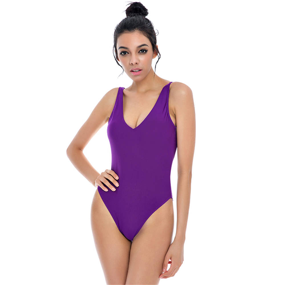 7b21f3f6d6f4b2 Oranje Een Stuk Badpak XL Badmode Vrouwen 2017 Sex Backless Monokini Solid  Zwemkleding Racing Badpak Thong Bodysuit Strap in Oranje Een Stuk Badpak XL  ...