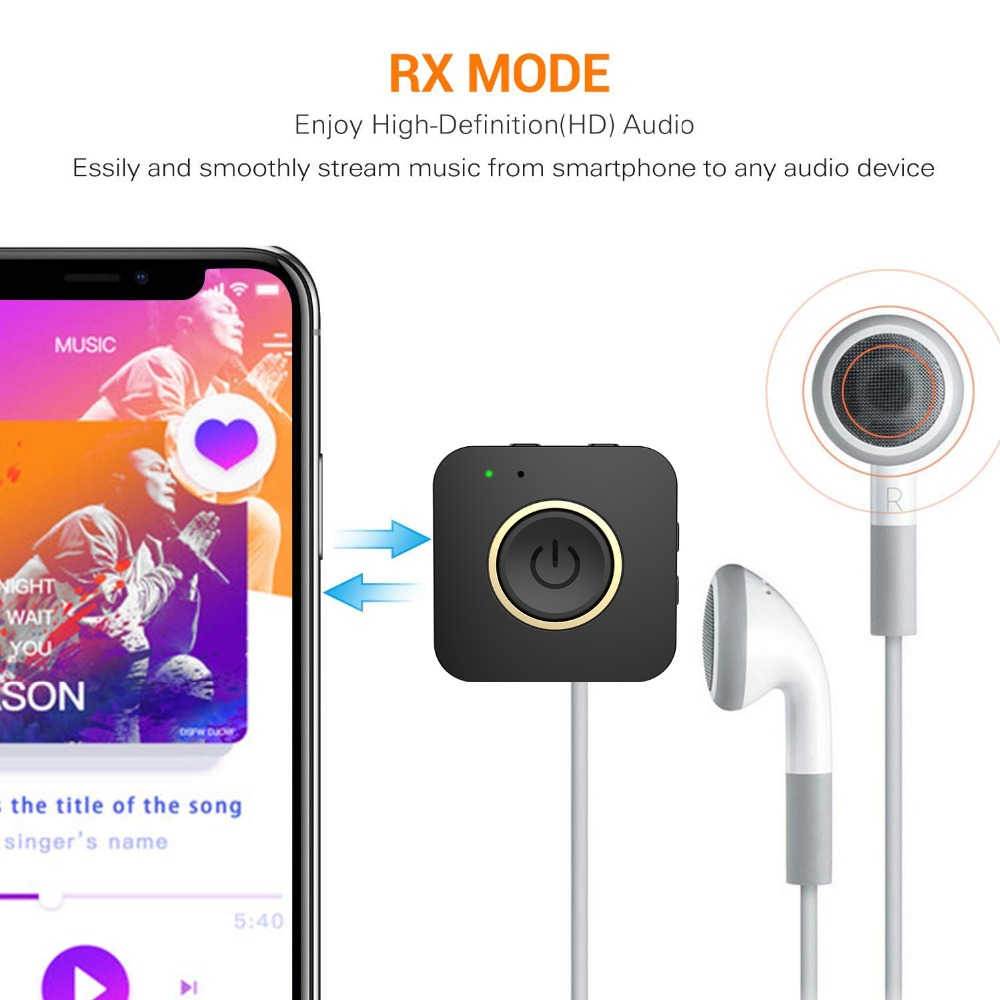 Мини двухканальный Bluetooth 5,0 Aptx HD с низкой задержкой стерео Aux 3,5 мм музыкальный передатчик приемник Громкая Связь Динамик ТВ аудио адаптер