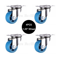 Small Lightweight Casters Size 1 25inch 32mm PA Nylon Super Mute Wheels Bear 22kg Pcs For
