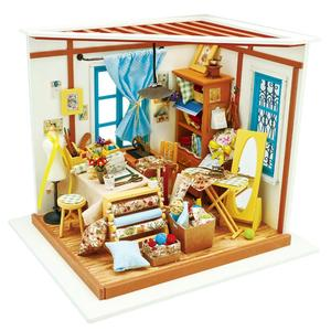 Image 5 - Robotime 15 Kinds DIY House with Furniture Children Adult Miniature Wooden Doll House Model Building Kits Dollhouse Toy Gift