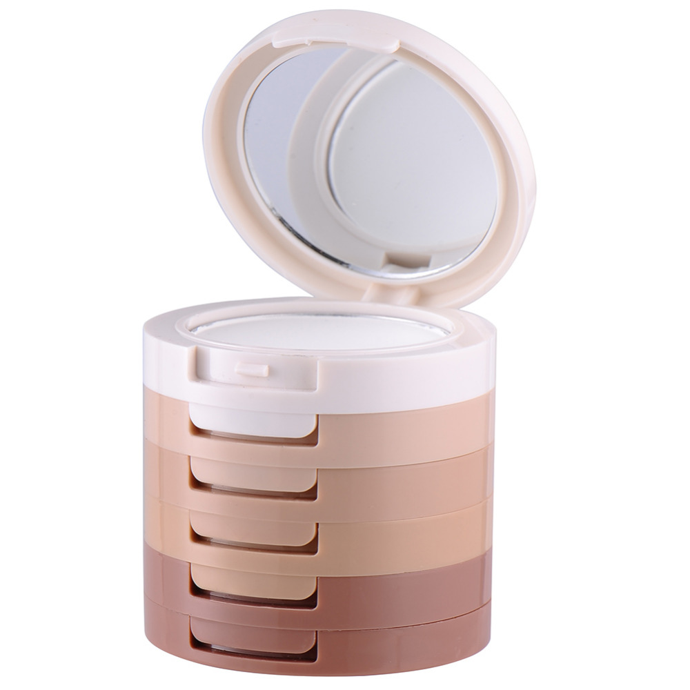 5 in 1 Professional Brand Makeup Kits 5 Colors/set Shading Hide Pressed Powder Foundation Cosmetic Palette Perfect Base