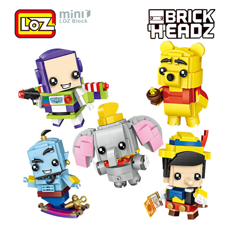 US $3 48 5% OFF|LOZ Figure Toy Buzz Light Year Woody Story Snow White  Pinocchio Blocks Toy Anime Cartoon Mini Brick Head For Children Kid Gift-in