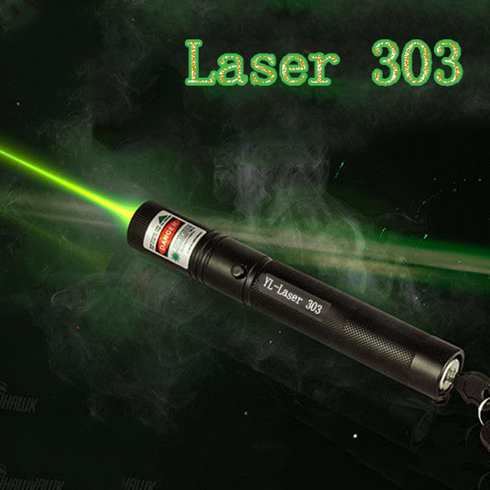 Hunting 532 Nm 5mw Green Laser Sight Laser 303 Pointer High Powerful Device Adjustable Focus Lazer Laser Pen Head Burning Match