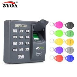 5YOA 5YBX6A Biométrico de impressão digital Máquina de Controle de Acesso De Interfone Elétrico Digital de Etiquetas de RFID Sistema de Código Para Teclas de Bloqueio Da Porta