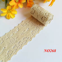 10 Yards/lot 43mm 100% Cotton  Lace Ribbon DIY Sewing Accessories Ribbons Trim Costura Wedding Decoration Fabric Cord