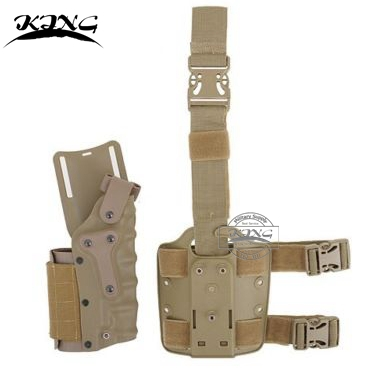 Tactical Gun holster Set Hunting Airsoft Drop Leg Holster Belt Holster fits R L Colt