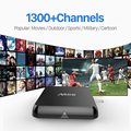M8S Árabe Europa Caixa Smart TV Android com Livre 1300 Canais de IPTV francês Itália Alemanha REINO UNIDO Canal Plus Sky Sports TV Set Top Box