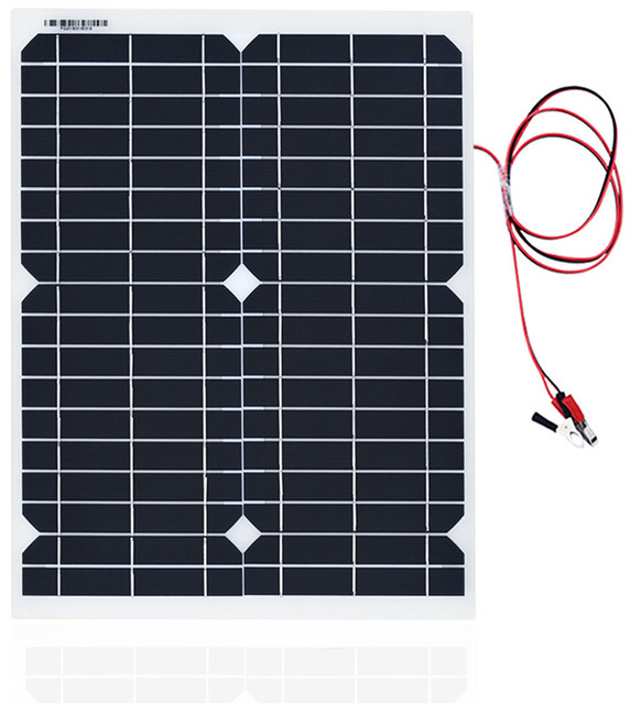 20W Portable Solar Powered Panel Cells Poly Module Battery Charger 1.5m Cable+10A 12V Solar Charge Controller USB Auto Regulator 3