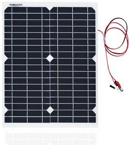 Image 3 - Panel de energía Solar portátil de 20W, celdas, módulo de polímero, cargador de batería, Cable de 1,5 m + controlador de carga Solar de 10A 12V, regulador automático USB