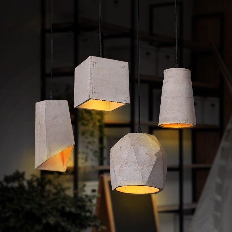 Nordic Rustikalen Zement Led Pendelleuchten Loft Stil Lampe Jahrgang