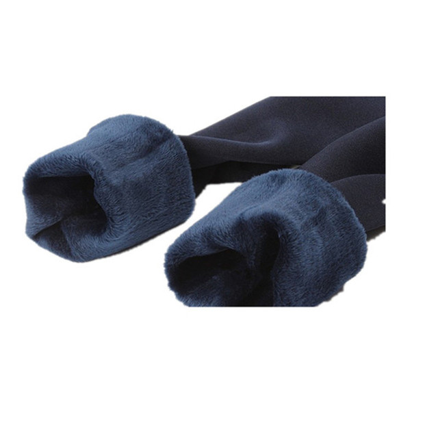 SVOKOR Winter Leggings Warm Women Plus Velvet Ankle Length  Warm Solid Pants High Waist Large Size Women Leggings