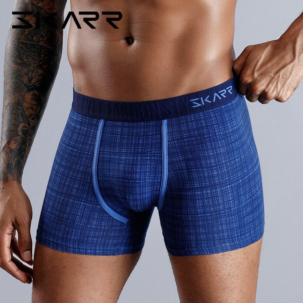 SKARR Man Underwear Men Boxer Cotton Boxershorts Men Underware Boxers Shorts Sexy Gay Underpants Plus Panties Calvin Comfortable