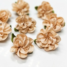 40pcs 2016 New  Ribbon Flowers Appliques Wedding Decoration DIY Sewing Crafts Free Shipping A984