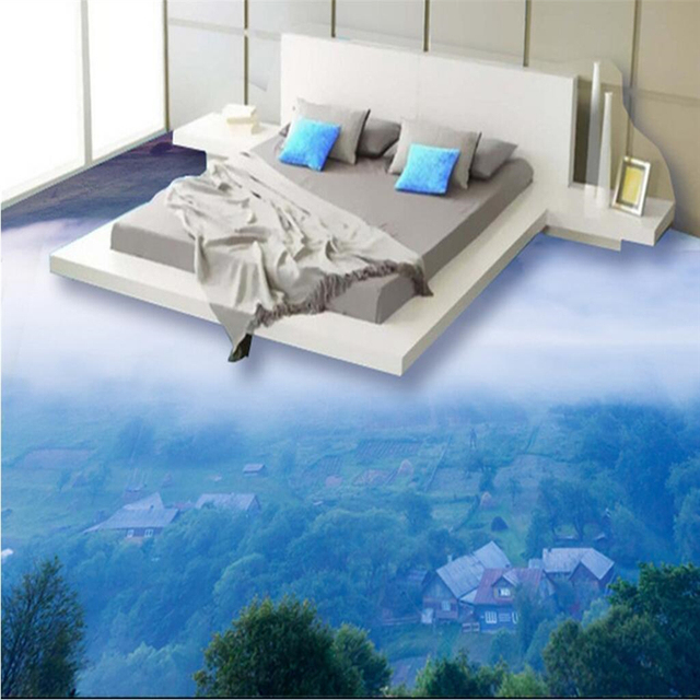 Beibehang Large Wallpaper Mural Custom Any Size Three: Beibehang Custom Fresco Wallpaper Any Size Cloud 3D Floor