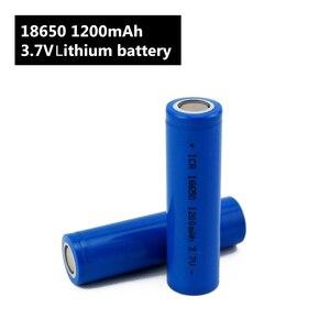 Image 2 - Torcia elettrica 18650 Batteria 3.7 V 1200 mah batteria Ricaricabile agli ioni di Li per Accumulatori e caricabatterie di riserva/e Bici 18650 Batterie pack (1 pc)