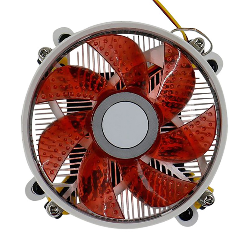 CPU Cooler Fan Heat Sink Pure Aluminum Radiator Built-in <font><b>12</b></font> High-Brightness LED Lights For LGA 775/1155 For AMD image