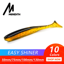 Meredith Simple Shiner Fishing Lures 50mm 75mm 100mm 130mm Wobblers Carp Fishing Smooth Lures Silicone Synthetic Double Shade Baits