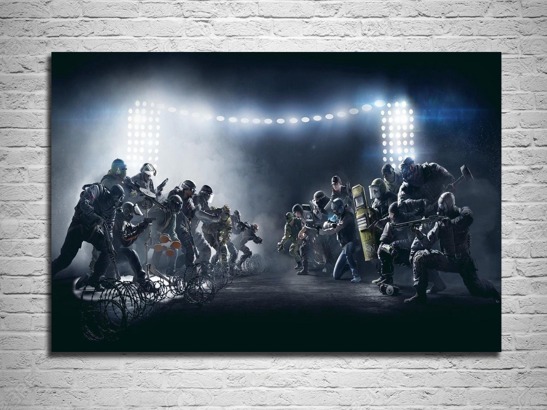 Rainbow Six Siege CTU PC Gaming Weapon Art Silk Poster Prints Decor ...