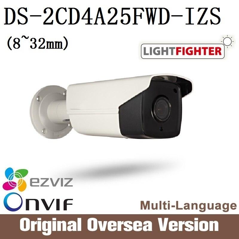 HIKVISION DS-2CD4A25FWD-IZS 8-32mm Ip Camera Poe Ip67 smart IR English Version WDR Onvif RJ45 uk lightfighter Cctv security hikvision ds 2cd4a25fwd iz 2mp smart ip camera cctv bullet 1080p poe ip67 ir english version h265 wdr onvif rj45 lightfighter