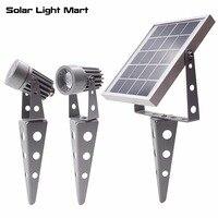 البسيطة 50x تحديث جميع المعادن التوأم المشهد حديقة الديكور الشمسية بدعم led أضواء حديقة مصباح للماء 5 متر كابل