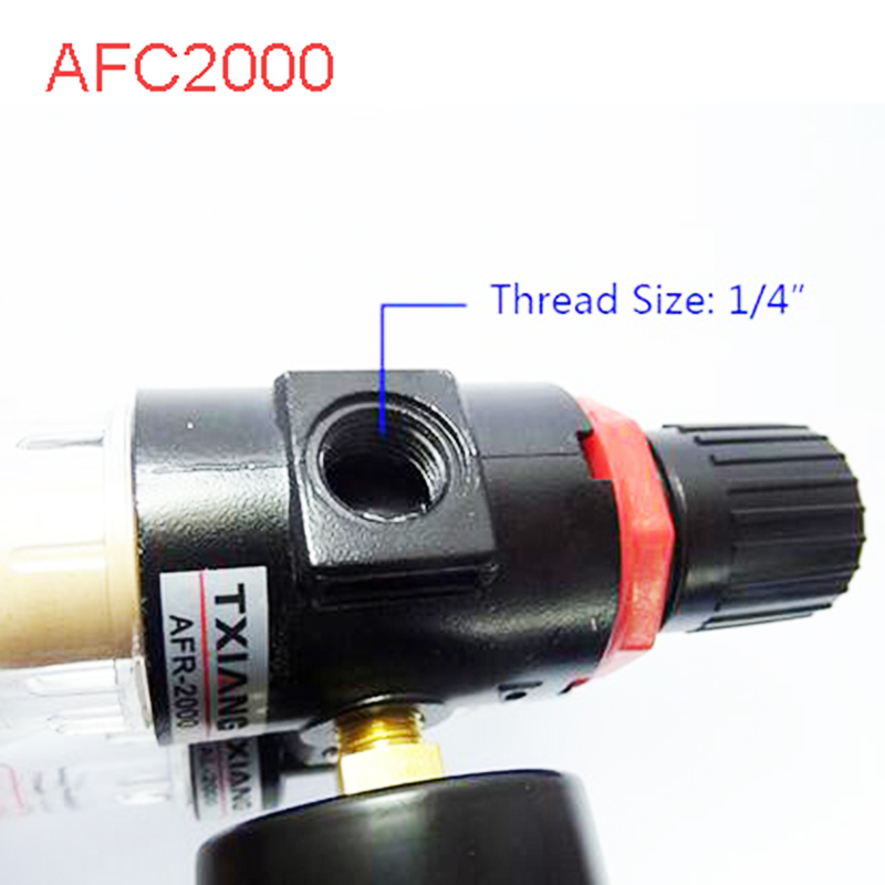 High Quality AFC2000 Air Filter Regulator Combination AFC2000 Lubricator Combinations, 1/4 Port FRL Union Air Treatment afc2000 g1 4 air filter regulator combination lubricator frl two union treatment afr2000 al2000