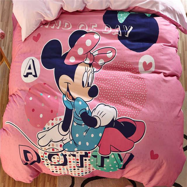 1408078784 Minnie Mouse 3D Set di Biancheria Da Letto Per Bambini Ragazze Lenzuola  Coperte Del Fumetto Disney