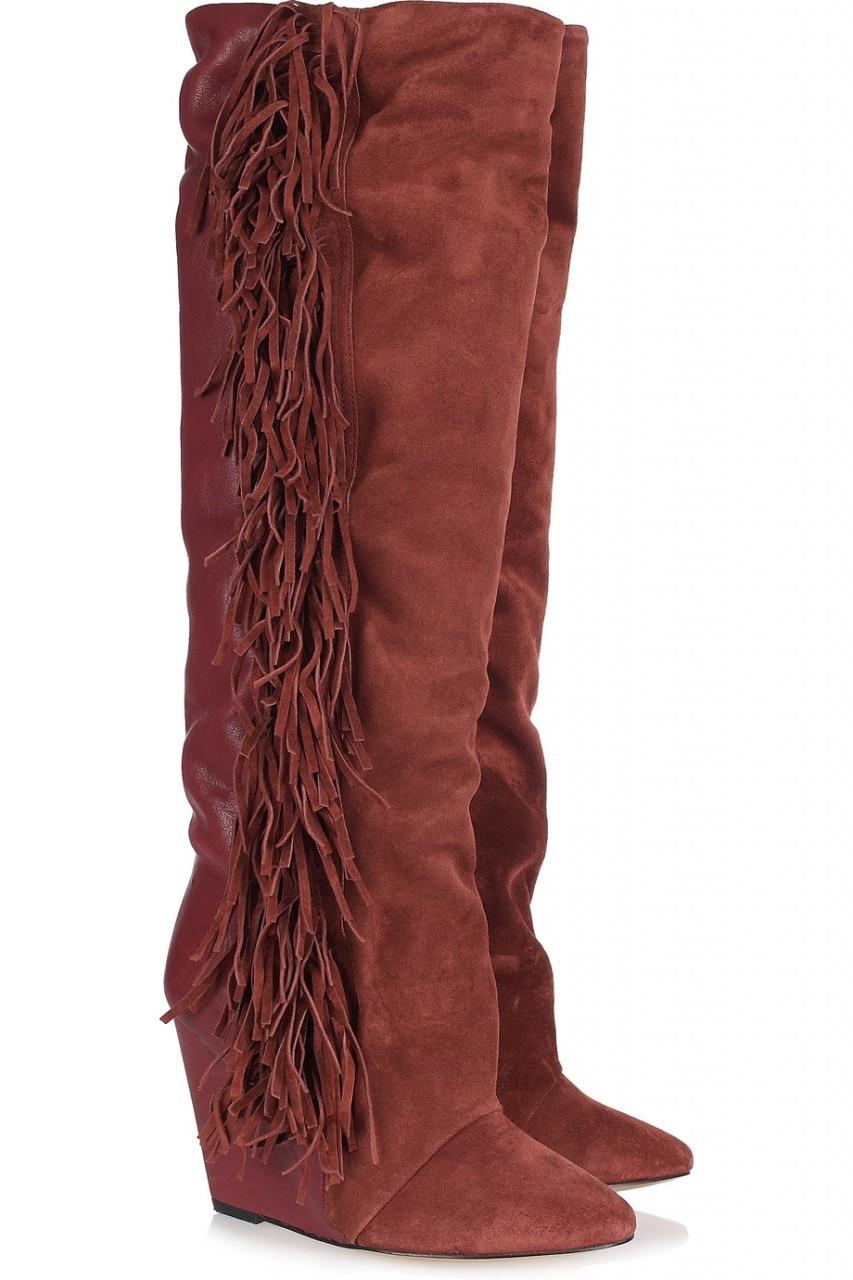 Online Shop women fashion comfortable wedge heel patchwork black ...