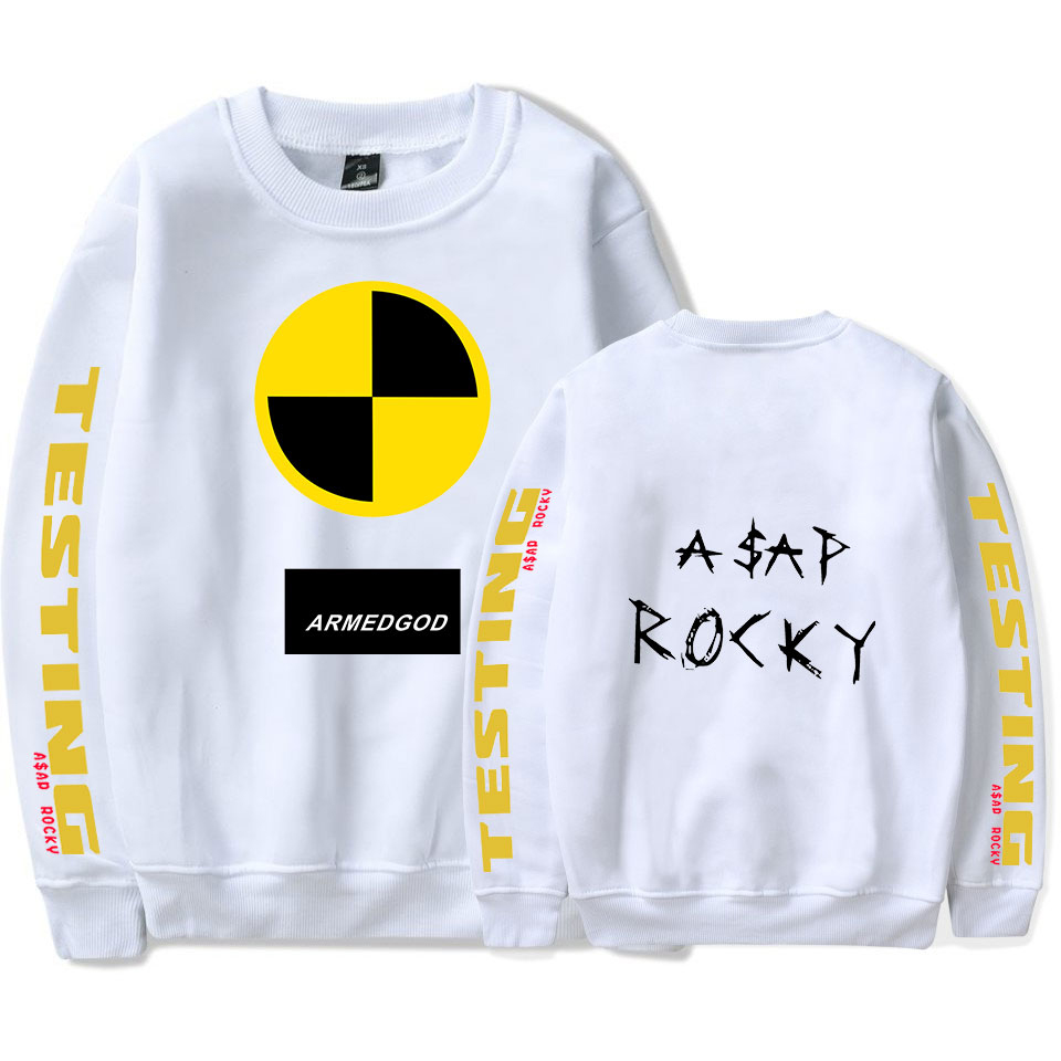 ASAP  ROCKY Hoodies Sweatshirts 2019 Autumn Fashion Hoodies Male Large Size Warm Fleece Coat Men Brand Hip Hop Wholesale