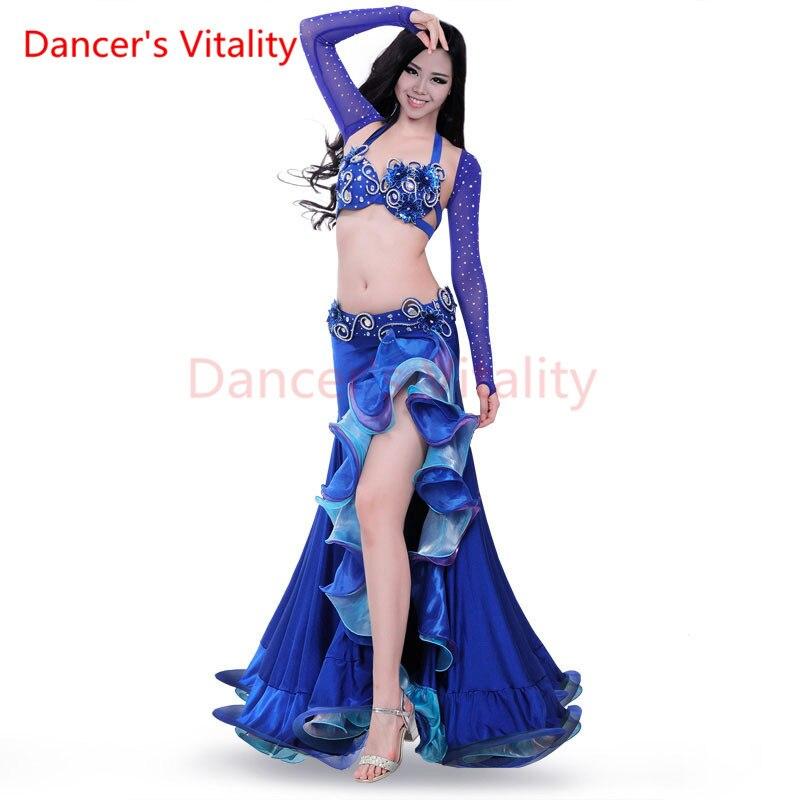 Dancer's Vitality New design top grade high quality belly dance set/ costume/belly dancing clothes/bellydance skirt dress