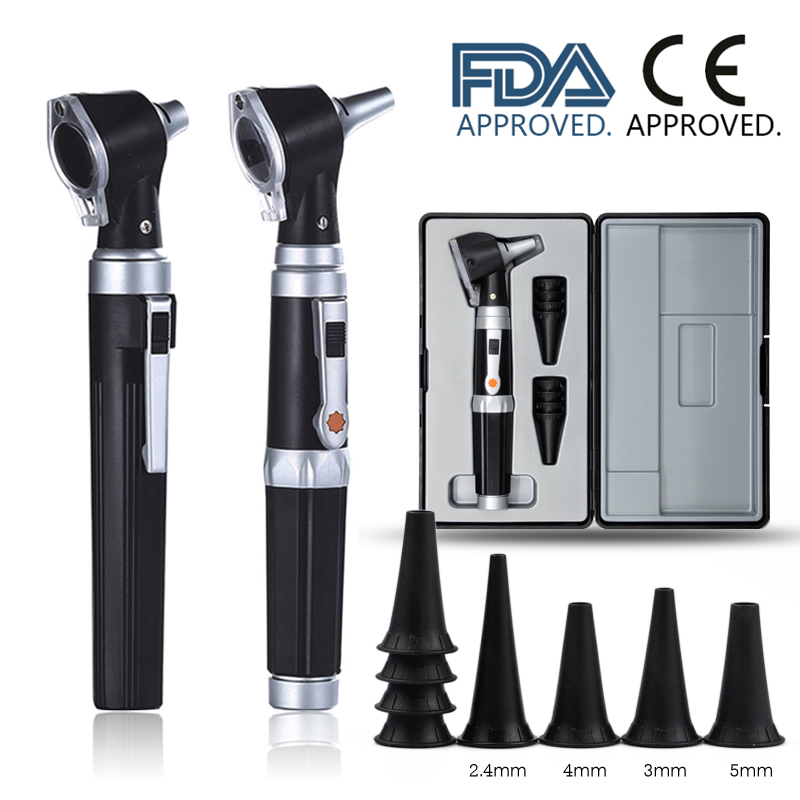 Professional Otoscopio Diagnostic Kit Medical Home Doctor ENT Ear Care Endoscope LED Portable Otoscope Ear Cleaner with 8 Tips(China)
