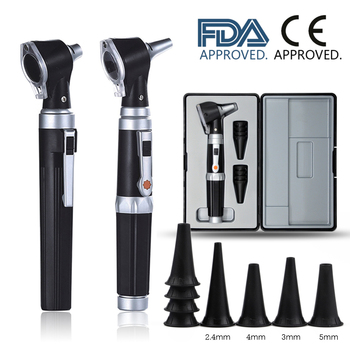 Professional Otoscopio Diagnostic Kit Medical Home Doctor ENT Ear Care Endoscope LED Portable Otoscope Ear Cleaner with 8 Tips 1