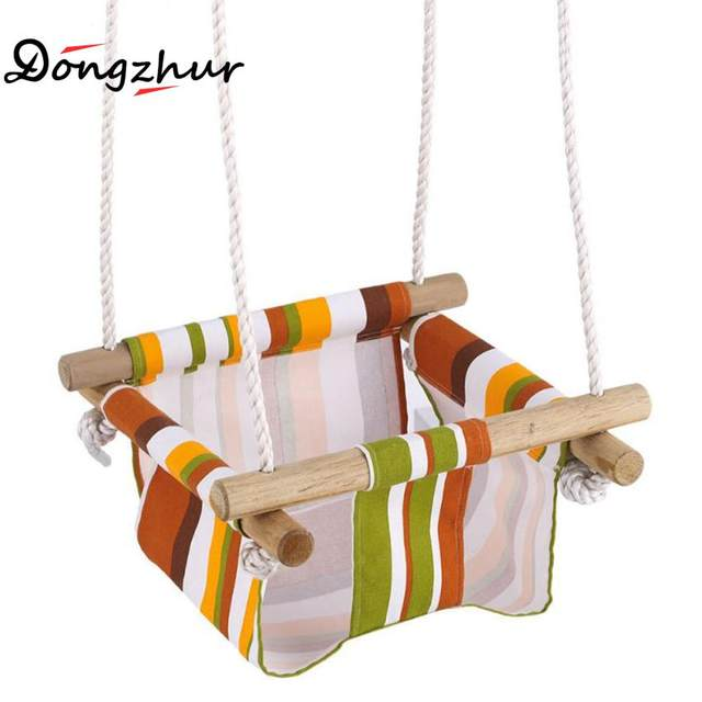 1pc Woody Indoor Small Swing Basket Baby Swing Hanging Chair Kindergarten  Baby Canvas Swings Garden Swing For Children WJ1638