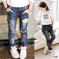 Kids clothing 2017 spring children pants baby trousers pearl girls slim jeans