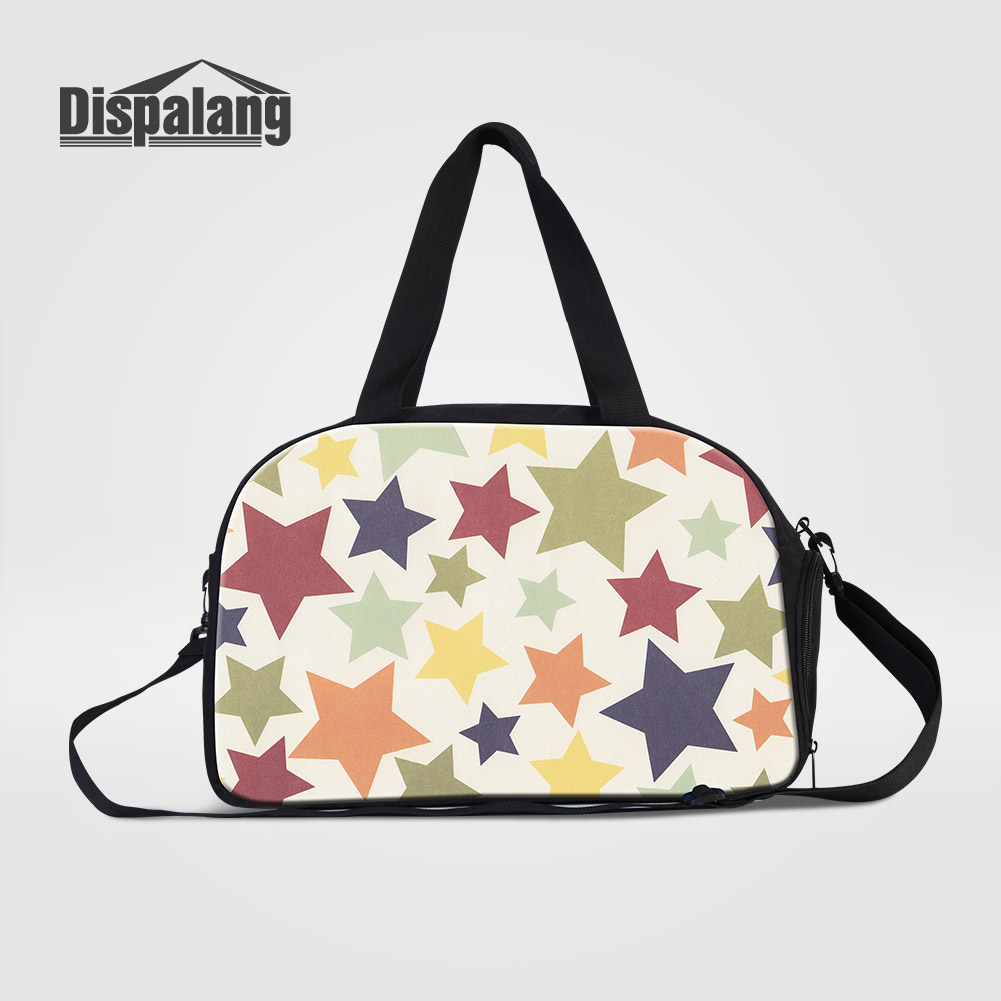 Dispalang 2018 Hot Sale Women Shoulder Duffle Bags Colorful Stars Printing Female Clothes Cross Weekender Bag Messenger Handbags