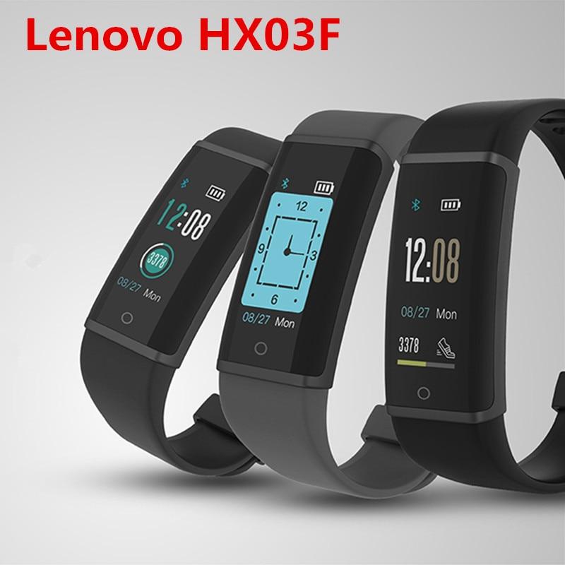 Lenovo HX03F IP68 Waterproof Wristband Fitness Tracker Smart Bracelet Bluetooth 4.2 Heart Rate Monitor Support iOS and Android цена в Москве и Питере