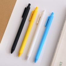 1Pcs/Lot KACO PURE 0.5mm Nib Black Gel Pen Candy Color Barrel Ballpoint Simple Durable Free Shipping