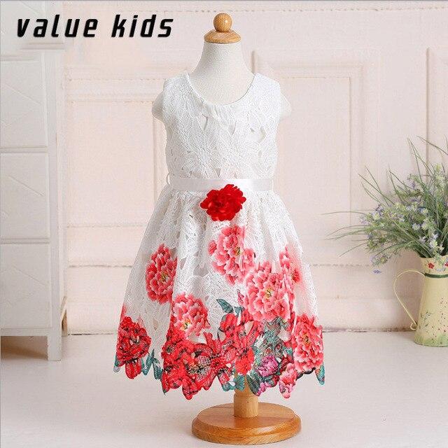 4494cd0b7 Las niñas ropa de verano 2016 traje niños vestidos para niñas de belleza  vestido de ropa