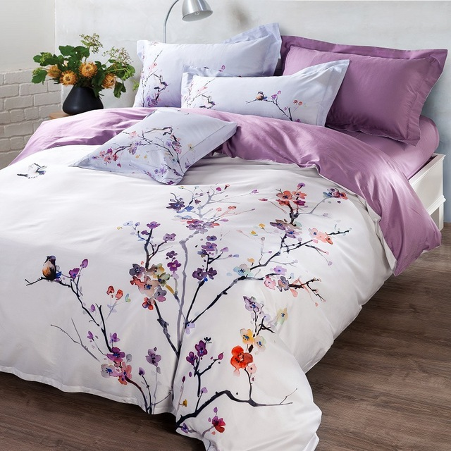 modern activity digital printing bed sheet duvet cover luxury bedding set king queen size egyptian cotton