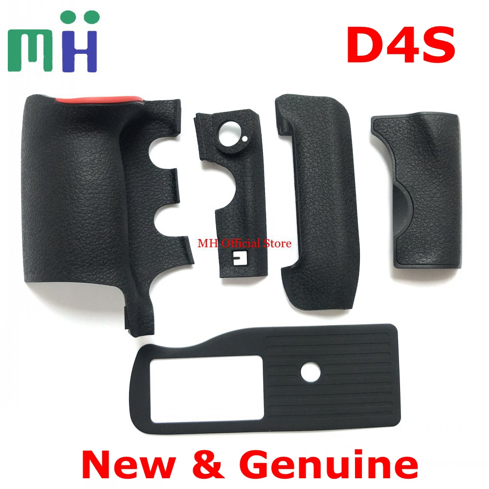 NEW Original For Nikon D4S Rubber Grip Bottom FX Side CF Card Body Rubber Cover Camera