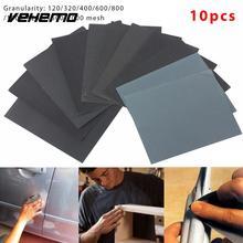 VEHEMO 10 шт. 230x280 мм Автомобильный экран для ухода за автомобилем, наждачная бумага, автомобильная наждачная бумага, приложения для влажной или сухой лист наждачной бумаги