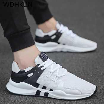 9b4d7f91 WDHKUN 2019 легкие кроссовки мужская обувь спортивные кроссовки белые  дышащие мягкие удобные кроссовки весна лето