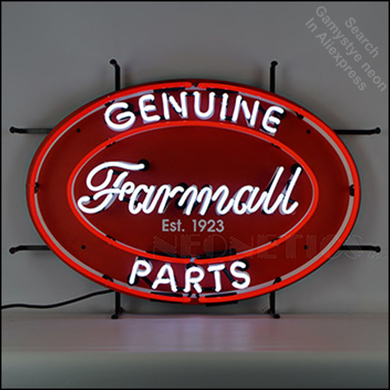 Lights & Lighting Neon Sign For Farmall Genuine Parts Neon Light Sign Custom Design Oil Station Hotel Neon Signs For Sale Paint On Board Lamps Quality First
