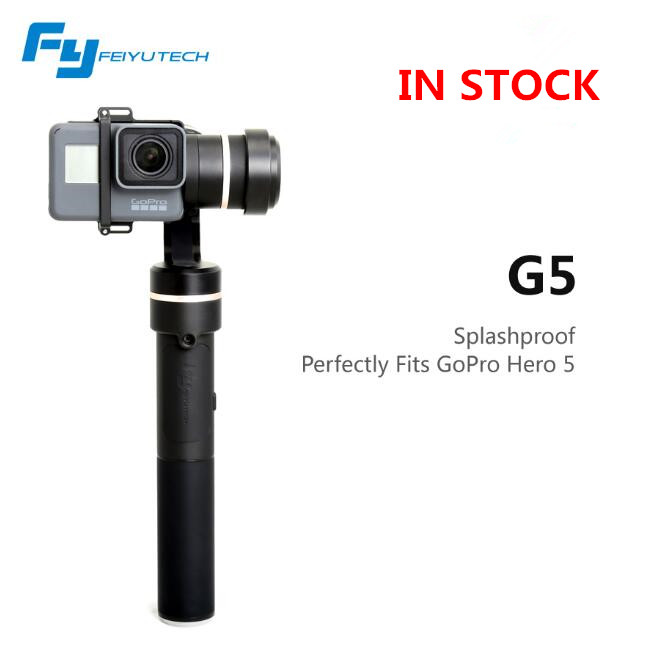 (In stock) FeiyuTech FY G5 3-axis Handheld <font><b>Gimbal</b></font> for Gopro Hero 5 4 3 3+ and yi <font><b>4k</b></font> SJ AEE Action <font><b>Cameras</b></font> Splashproof image