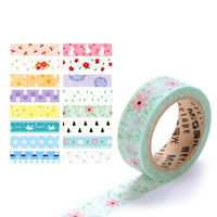 5pcs Lot Different Beautiful Floral Nice Washi Tapes Masking Tapes For DIY Crafts Scrapbooking Decorative Crafts